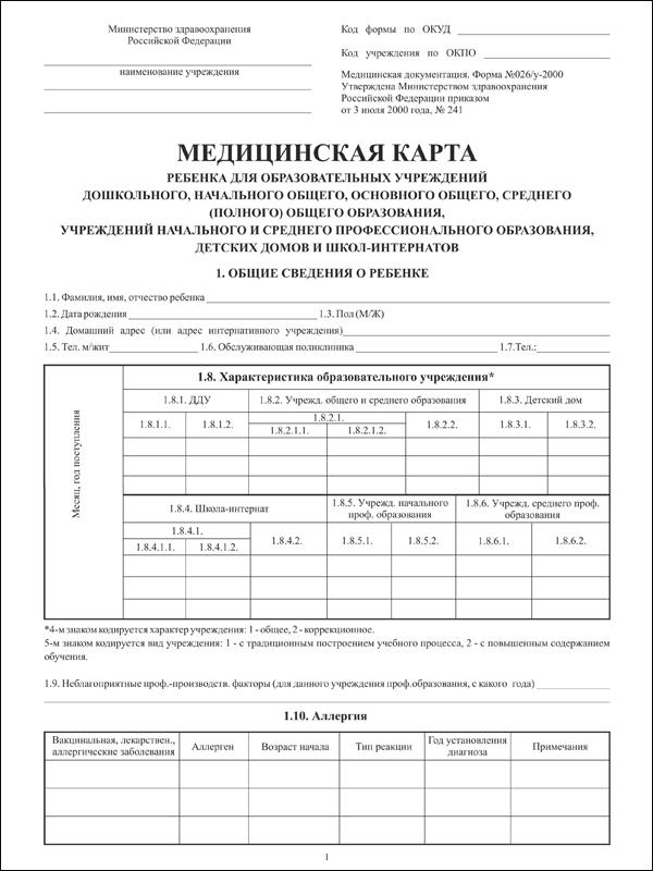 Медицинская карта ребенка Черкизовская Вызов на сессию Набережная Шитова
