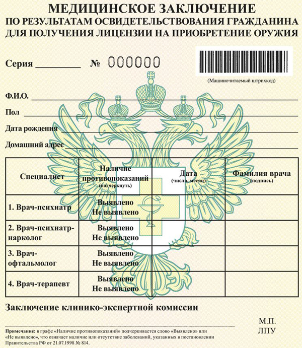 046 справка на оружие Щёлковское шоссе Сертификат о профилактических прививка Покровское-Стрешнево